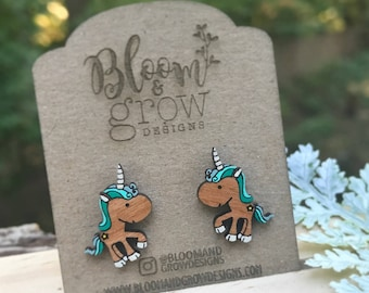 Stud Earrings - Magical Unicorns