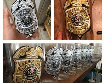 Police Badge Pint Glasses