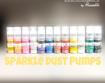 Sparkle Dust Pumps 4 Grams- METALLIC FINISH - 100% EDIBLE Cakes Decoration - Glitter - Periwinkles - Baker Supply - Cookie Supply