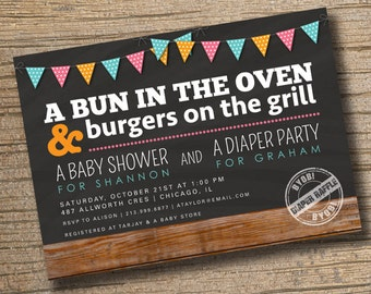 Items similar to Couples Baby Shower Invitation Coed Baby Shower