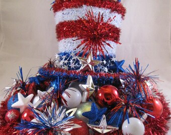 Patriotic Fourth of July Centerpiece, 4th of July Centerpiece