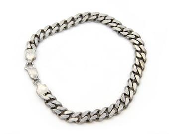 Mens Sterling Bracelet, Curb Chain Bracelet, 925 Silver Bracelet, Cuban Chain Bracelet, 8 Inch 20gr Bracelet, Simple Everyday Mens Jewelry