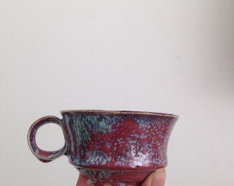 Wheel Thrown Short Ceramics Tea Cup