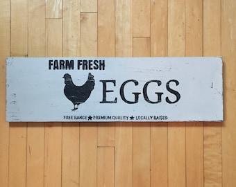 Wood Sign - Farm Fresh Eggs
