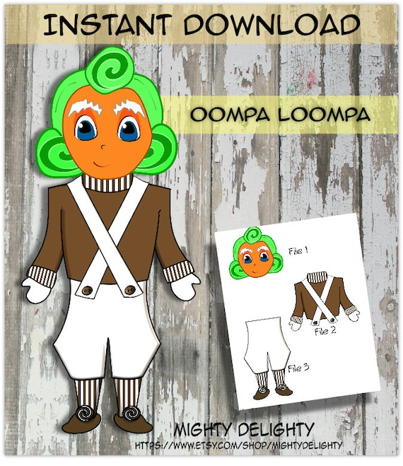 Oompa Loompa Party Decoration Stands 23 Inches tall Perfect