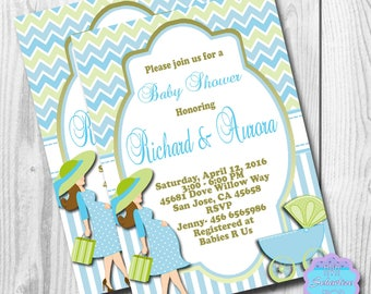 Baby Shower Invitation, Pregnant Woman Baby Shower Invitations, Pregnant Mom Baby Shower Invitation, DIGITAL or PRINTED