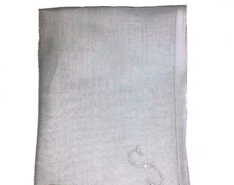 White Irish Linen Handkerchief (16x16)