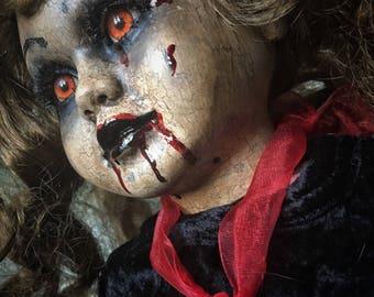 Terra Creepy Scary Horror Vampiress OOAK doll