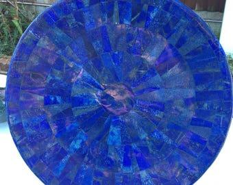 Lapis lazuli gemstone Serving Plate