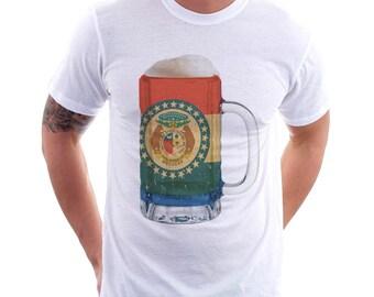 Missouri State Flag Beer Mug Tee, Unisex, Home State Tee, State Pride, State Flag, Beer Tee, Beer T-Shirt, Beer Thinkers, Beer Lovers Tee