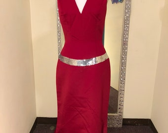 Long Red Pageant, Prom, Bridesmaid Dress