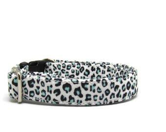 Animal Print Cat Collar, Mint cat collar, Cat Collars, Breakaway Collars, Cotton Cat Collars, Cat Collar, Kitty Collar, Personalized Collars