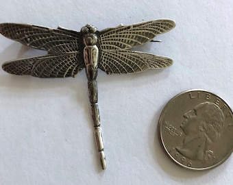 Sterling Silver Dragonfly pin brooch
