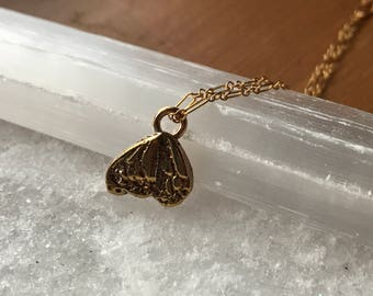 Monarch butterfly wing in 14k yellow gold