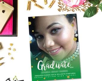 OctaneOnEtsy --- CUSTOM Graduation Invitation --- Design Only