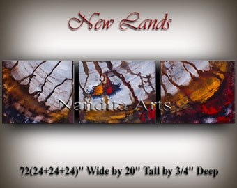 Modern Fine Art, Art Painting, Modern Home Decor, Office Wall Art, Large Wall Hanging, Wave Contemporary Art, ORIGINAL Art Painting Nandita