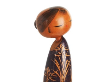 RARE Sosaku Kokeshi by SUIGAI SATO. Japanese Kokeshi Doll. Vintage Kokeshi. Kokeshi Dolls. Japanese Doll. Wood Doll. Creative Kokeshi. Japan