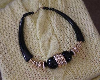 Black&Gold Statement Necklace
