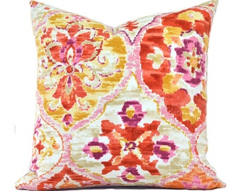 Outdoor Pillows Outdoor Pillow Covers Decorative Pillows ANY SIZE Pillow Cover Orange Pillow Pink Pillow P Kaufmann Ali Baba Tangerine