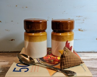 Retro Stoneware Salt & Pepper Shaker 1970s
