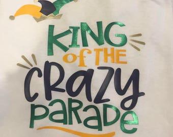Mardi Gras Shirt- King