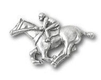 Jockey Lapel Pin- CC314- Jockey, Horse, Horse Racing and Equestrian Pins