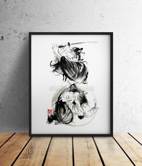 Samurai Poster Kurosawa Movie Japanese Home Decor Style Art