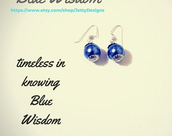 Blue Wisdom Drop Earrings
