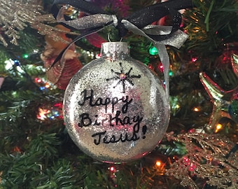 Christmas Ornament, Religious Ornament, Painted Ornament
