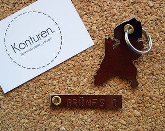 Netherlands / Netherlands Keychain - key chain, leather, Brown