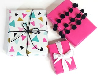 Gift Wrapping / Upgrade Gift Wrapping / Gift Wrap / Wrapping Paper / Ribbon / Pink / Gift Packaging/ Gift for Her/ Upgrade Packaging