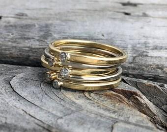 Diamond Ring Handmade Gold Diamond Ring Wild Prairie Silver Jewelry Joy Kruse
