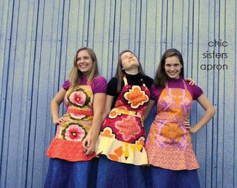 multi-sized chic sisters apron pattern by marie-madeline studio (M066)