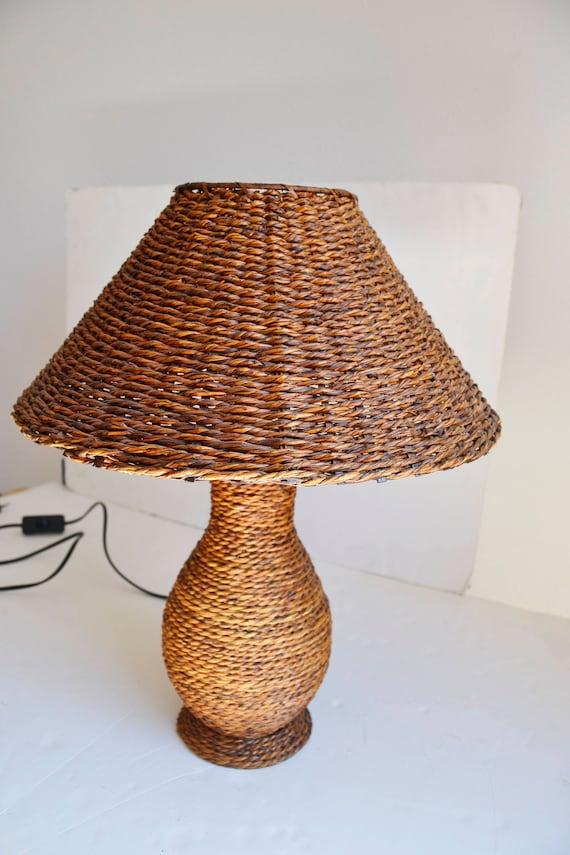 Desk lampwicker table lamp wicker vintage lamp wicker table desk lampwicker table lamp wicker vintage lamp wicker table lamp table wicker lamp ratan table shabby chic aloadofball Choice Image