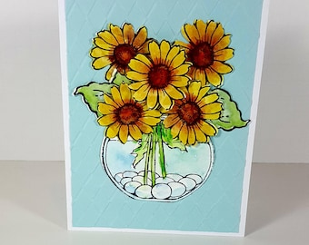 Watercolor Greeting Card - Floral All Occasion Card - Floral Bouquet Card