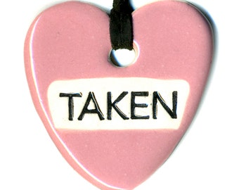 Taken Ceramic Necklace in Pink