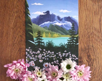 Explore more series • Canada • A5 illustration•  landscape art print