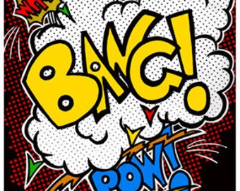 Wham Bang Pow Comic Fight Sounds Wall Decal #40820