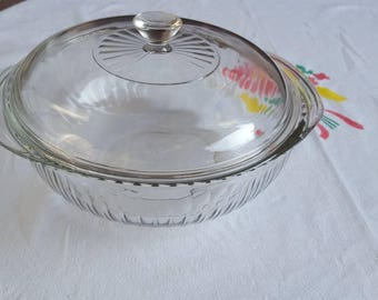 Pyrex Casserole Dish with Lid, 2 AT Clear Baking Dish