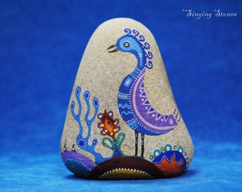 Hand painted stone  -The home guardian-Home decoration-Unique present-Made with love-In meditation-Girft idea-House warming-Altar stone