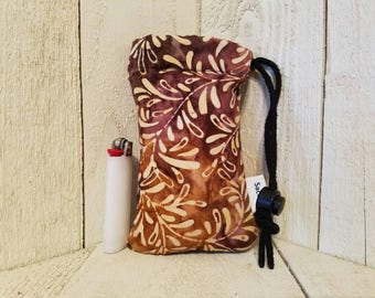 Brown and Purple Baltic padded pipe bag, size small
