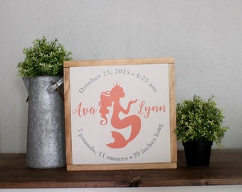 Nursery Decor, Nursery Sign, Birth Announcement, Wood Sign, Welcome Baby Sign, New Baby Gift