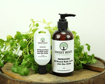 All Natural Body Lotion with Zinc Oxide for Sun Protection