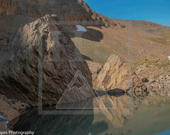 Small Alpine Lake Near Rocky Mountain National Park