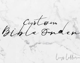 Custom Bible Order
