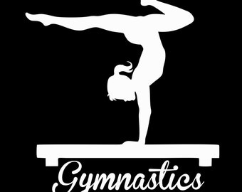 Gymnastics Vinyl Car Decal Sticker