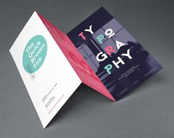 Custom Brochure or Menu Design