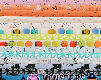 Lil Monsters - Fat Quarter Bundle by Cotton + Steel - Full Collection - 16 prints