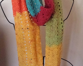 Rainbow unisex scarf cold winter weather accessory Christmas gift