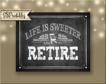 Printable Retirement sign, Retiree Dessert Bar Sign, Retirement Poster, Retirement party decoration, Rockin Retirement Collection